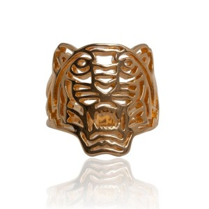 Gold-Plated Tiger Ring by Kenzo