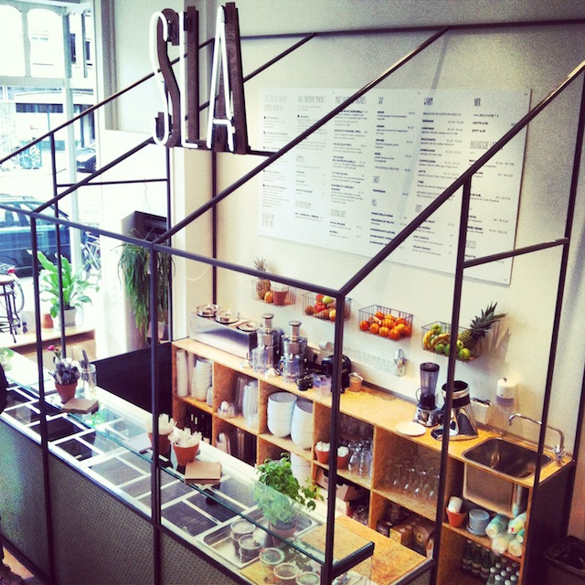 The new salad bar SLA in Amsterdam
