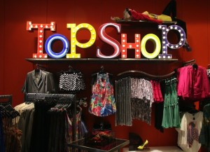 topshop opening at the bijenkorf in Amsterdam