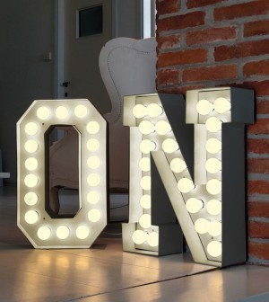 Vegas Letter Lights by Rose and Grey