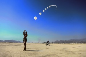 Burning Man 2014 balloon chain