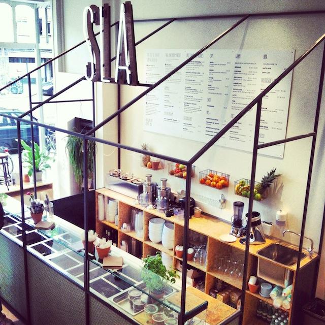 The new salad bar SLA in Amsterdam